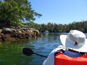 Exiting the lagoon at Kinsman cove during high water