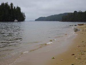 Golden sand beach in Dsulish Bay