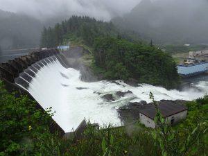 Hiked up I the dam at Ocean Falls